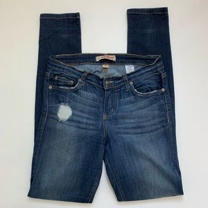 Judy Blue Dark Wash Distressed Skinny Jeans